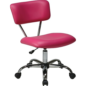 About Office Star Avenue Six Vinyl Vista Task Chair Pink Super Cute And Comfortable