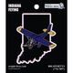 Indiana State with Airplane Sticker