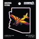 Arizona State with Airplane Sticker