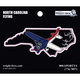 North Carolina State with Airplane Sticker