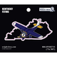 Kentucky State with Airplane Sticker