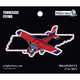 Tennessee State with Airplane Sticker