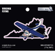 Virginia State with Airplane Sticker