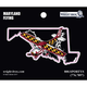 Maryland State with Airplane Sticker