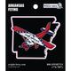 Arkansas State with Airplane Sticker