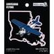 Louisiana State with Airplane Sticker