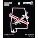 Alabama State with Airplane Sticker