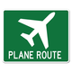 Plane Route Metal Sign