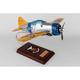 F2A-2 Buffalo 1/24 (AF2ate)  Mahogany Aircraft Model