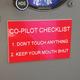 Co-Pilot Checklist Placard