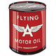 Retro Aviation Oil Can Metal Sign