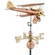 Large Biplane Weather Vane (Requires Mounting Hardware)