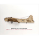 Laser-Cut WWII Airplane Profile Prints with Wood Accents