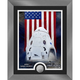 Launch America Dragon Crew Capsule Framed Print with Collectable Coin