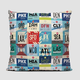 Deluxe USA Airport Throw Pillow