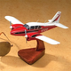 Custom 8 in. Mahogany Aircraft Model