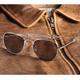 Aviator Sunglasses - 52mm (Silver Frame)