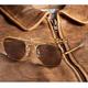 Aviator Sunglasses - 52mm (Gold Frame)