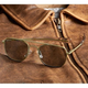 Aviator Sunglasses - 52mm (Olive Frame)