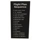 Flight Plan Sequence Placard