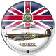 Spitfire Union Jack Airplane Wall Clock