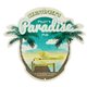 Personalized Pilot's Paradise Pub Metal Sign