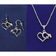 Sterling Silver High Wing Jewelry Set (Necklace and Earrings)