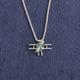 Biplane Silver-Tone Necklace
