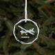 Custom Crystal Aircraft Ornament