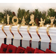 Brass Stocking Holders with Design