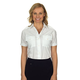 Ladies White Short Sleeve Aviator Shirt