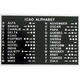 ICAO Alphabet Placard (2 1/4 in. x 3 1/2 in.)