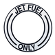 Jet Fuel Decal (Black - 4 1/2 in. dia. Center)