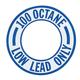 100 Low Lead Octane Decal (Blue)