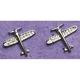 Crystal Airplane Earrings