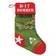B-17 Bomber Plush Velvet Christmas Stocking