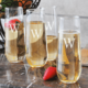 Personalized Stemless Champagne Flutes - Set of 4