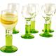 Bormioli Rocco Green Footed Limoncello Cordial Glasses - 2 oz - Set of 6