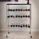 Wine Bottle Rack Cart with Bar Top - Chrome - Holds 27 Bottles