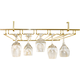 5-Channel Overhead Glass Rack - Brass Colored