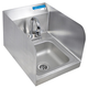 Deck Mount Hand Sink - Space Saver with Side Splashes
