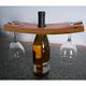 Handmade Wooden Wine Glass & Bottle Holder