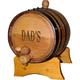 Personalized Oak Beverage Dispensing Barrel with Steel Bands - 5 Liter