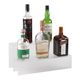 18-inch 2 Tier Liquor Bottle Shelf - Translucent