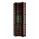 Traditional Redwood Curved Corner Wine Rack - Holds 84 Bottles