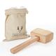 Viski Professional Lewis Ice Bag & Wooden Mallet