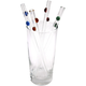 Handmade Glass Drinking Straws -9 Inches Long - Set of 4
