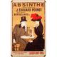 Absinthe J. Edouard Pernot Metal Bar Sign