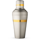 Japanese Yukiwa Baron Cocktail Shaker - Matte Steel with Gold Plated Bands - 500ml