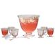 Artland Blown Glass Aspen Punch Bowl Set - 7 Quarts - 8 Pieces